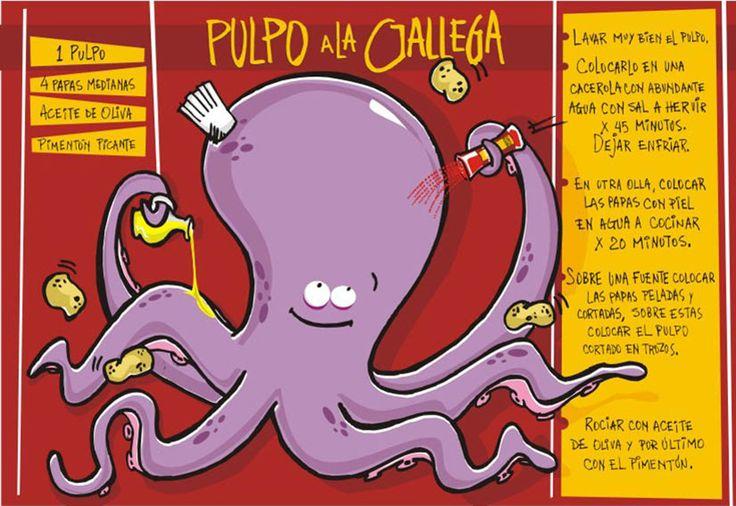 """Pulpo a la gallega (si no lo """"espantas"""", te quedará más bien durito...)"""