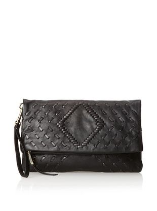 60% OFF Christopher Kon Women's Chelsea Flap Over Clutch, Black