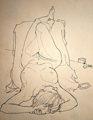 life drawing, art work, wall art, framed art, on the wall, line drawing, interior design, nude,