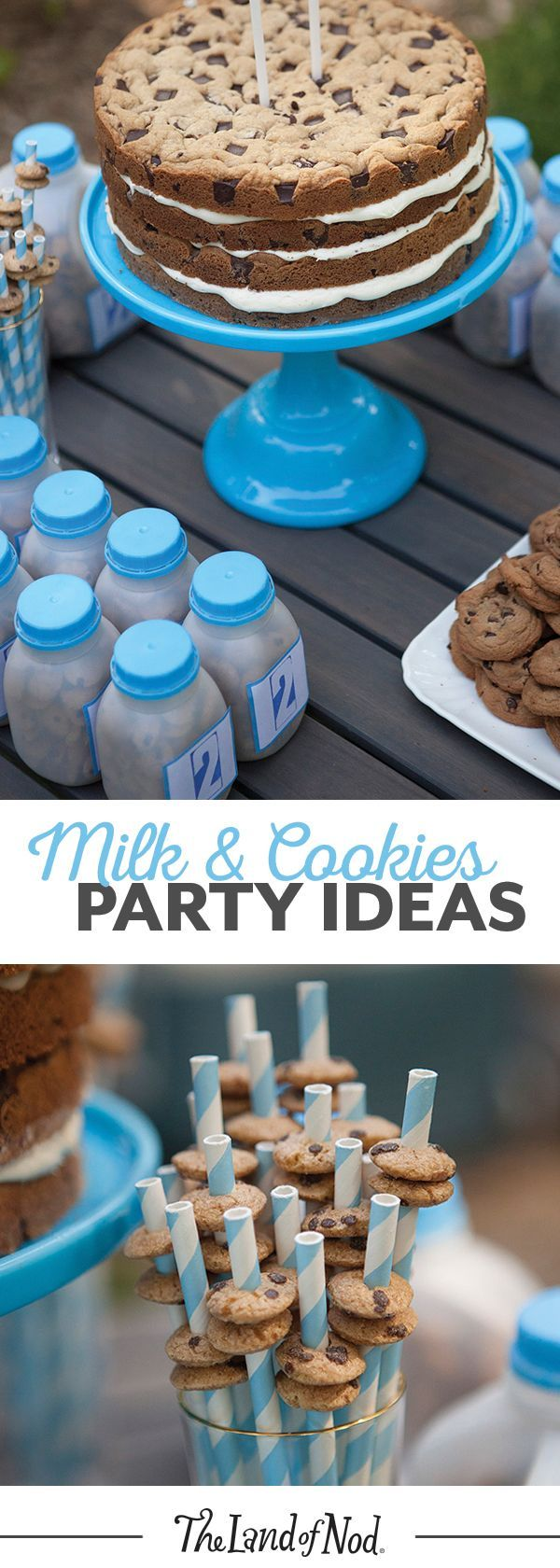 Got kids who love milk and cookies? You're in luck. Chef and mom Kelsey Nixon shows us how to throw the tastiest themed summer birthday party. And no girl or boy can resist her recipe for a chocolate chip cookie layered cake.