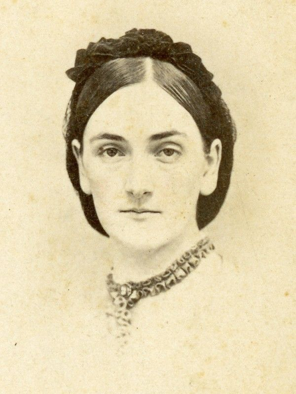 TWO CDVs CIVIL WAR & 1870s ELIZA THOMPSON CHAPMAN WIFE OF DR CHAPMAN