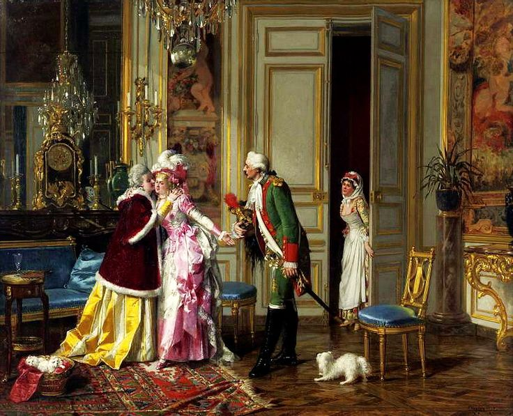 Charles-Desire Hue (1842-1899) - THE VISITOR