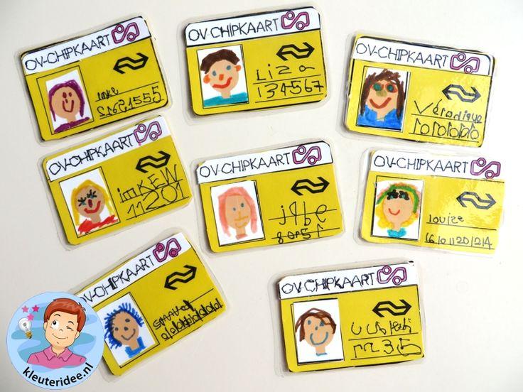 OV-chipkaartvoor kleuters, thema de trein, kleuteridee, met gratis download 3