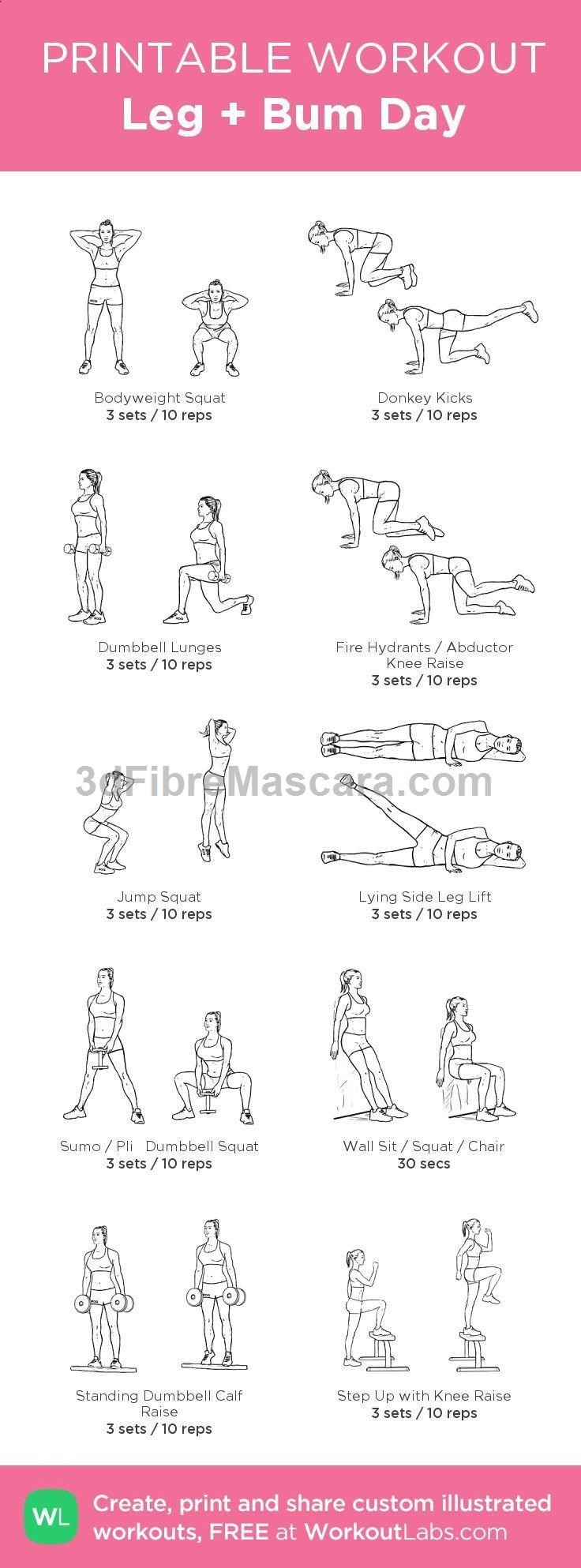 Leg   Bum Day Workout #fitspiration | Health & Fitness | Pinterest | Workout Exercises, Legs and Workout #diet #dieting #lowcalories #dietplan #excercise #diabetic #diabetes #slimming #weightloss #loseweight #loseweightfast