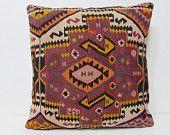 red euro sham traditional pillow orange rug large kelim rug 24x24 pillow case large kilim pillow pillowcase 24x24 kilim pillow 24x24 23320
