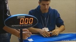 The 2x2 Rubik's Cube World Record (Click through for gif)