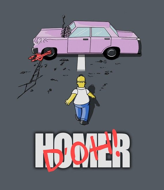Parody poster Akira - The Simpsons