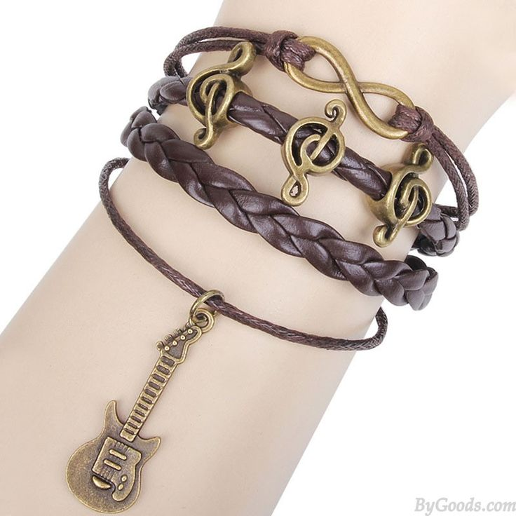 Happy Music Notes Guitar Infinity Music Bracelet only $8.99 in ByGoods.com!