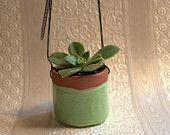 Little Ceramic Hanging Succulent Pot