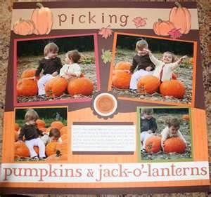scrapbook idea for Pumpkin Picking