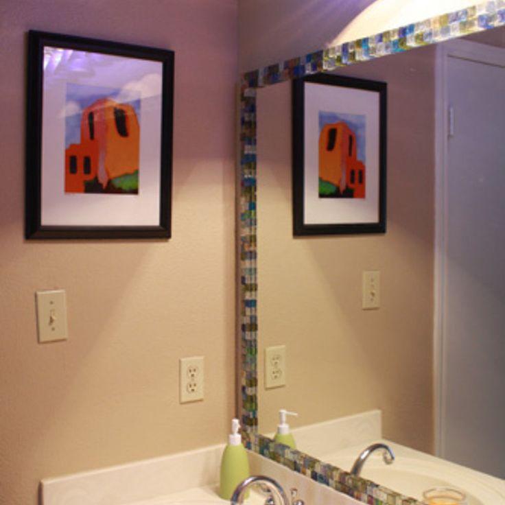 Mosaic Tile Framed Mirror Mosaic Tiles Mosaics And Tile Framed Mirrors