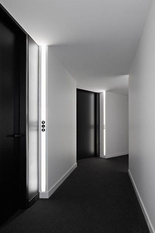Black doors, black carpet!