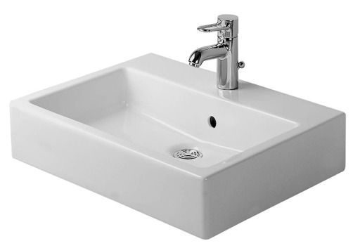 Duravit Vero Håndvask M/Wondergliss 50x47x13 cm Hvid porcelæn M/hanehul og overløb