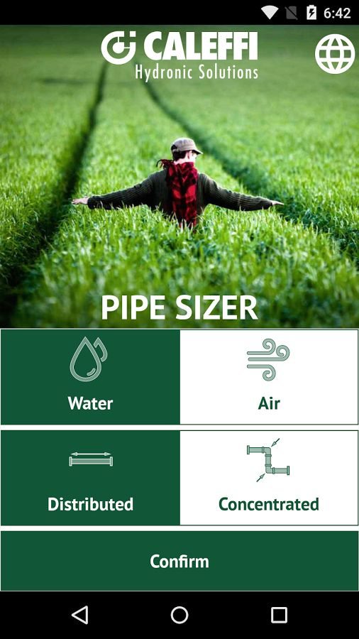 Pipe Sizer Caleffi - home Google Play