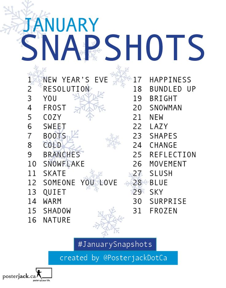 January Snapshots: 31 Day Photo Challenge