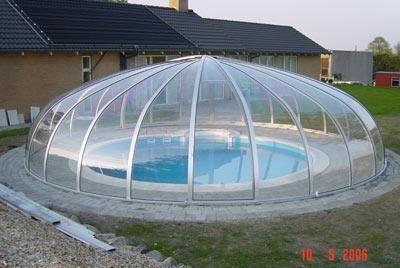 Vöroka Schwimmbad Überdachung RUND - Schwimmbadbau, Pool, Sauna, Dampfbad | Schwimmbadbau24