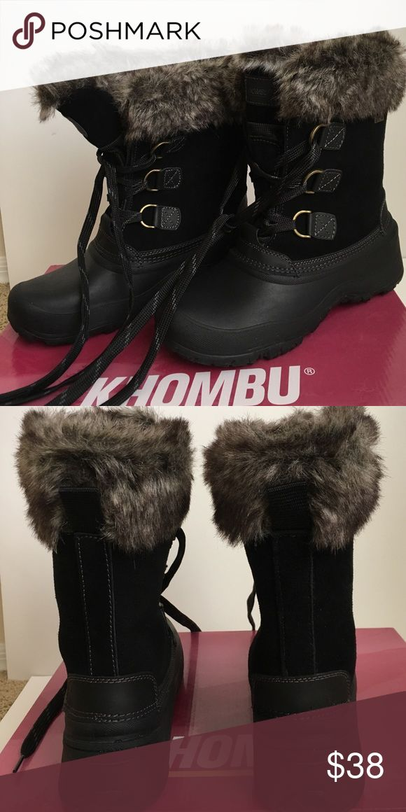 KHOMBU waterproof boot,size 9 KHOMBU all weather boots for ladies, size 9, only wore a couple times, it's too big on me so I have to let go, it's very warm! Khombu Shoes Winter & Rain Boots