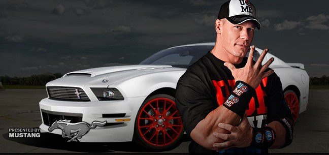 John Cena Oh My Gosh A Killer Mustang And A Sexy Man It S My