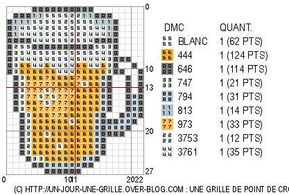 02/01/11 : grille de point de croix gratuite - Verre de Biére ^^'