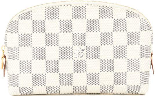 •Website: http://www.cuteandstylishbags.com/portfolio/louis-vuitton-beige-damier-azur-pochette-cosmetic-pouch/ •Bag: Louis Vuitton Beige Damier Azur Pochette Cosmetic Pouch