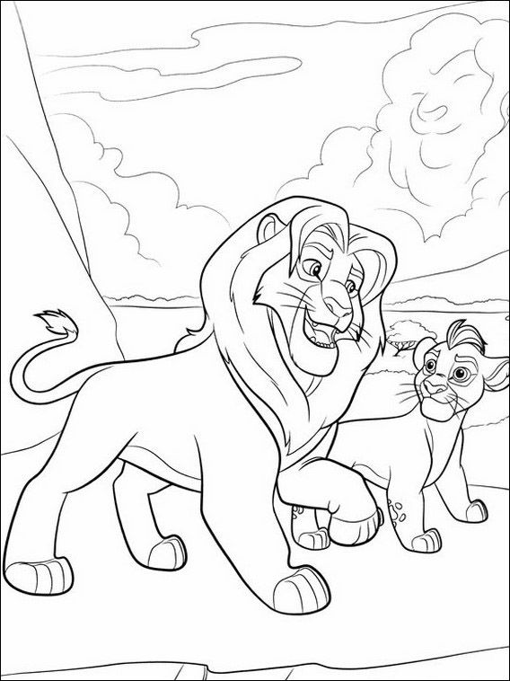Dibujos para Colorear La Guardia del Leon 12 | bebé | Pinterest ...