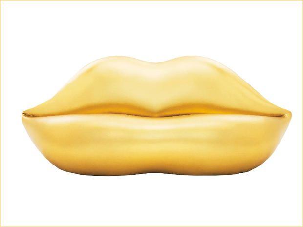 Il divano Bocca dorato di Gufram