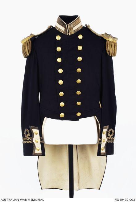 Naval officers full dress coat : Lieutenant G A Hill ...