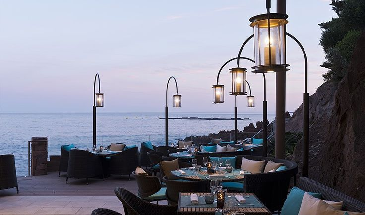 Our bespoke lantern fittings at the luxury restaurant of Miramar Beach Hotel & Spa