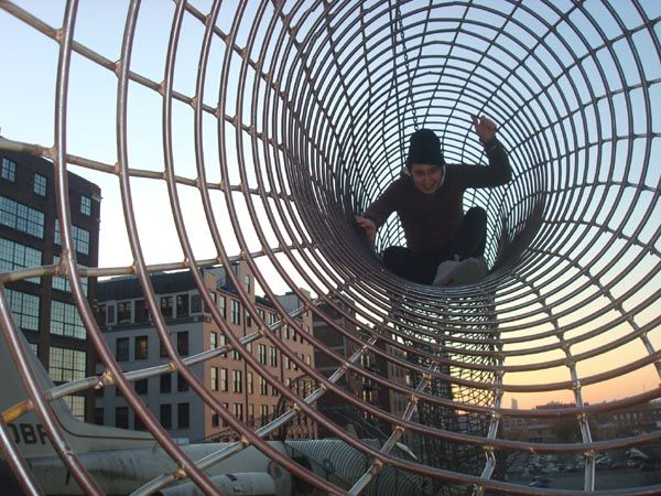 City Museum, St. Louis.  10+ story outdoor rebar playground with airplanes, school buses, ropes, a ball pit for grown-ups, and lots of other random things to climb/crawl through