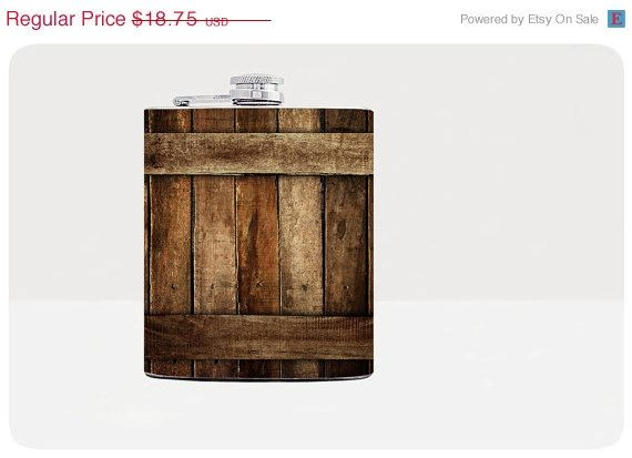 ON SALE Black Friday Sale - Wooden fence hip flask - Cool present - Gift for him, for her - Hip flask - Unique gift for men - Rum flask -