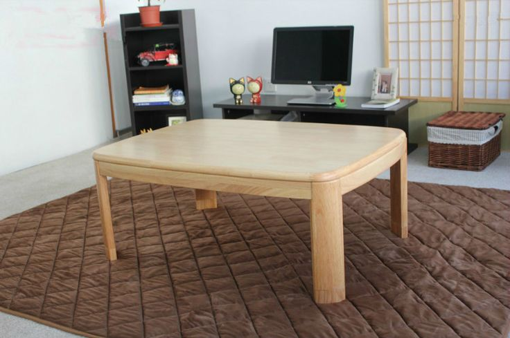 Table Overlay Quality Chime Directly From China Square Suppliers Anese Kotatsu Coffee Rectangle Natural Finish Living Room