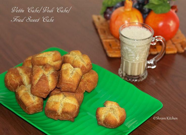 VETTU CAKE (EGGLESS) | VEDI CAKE | FRIED TEA CAKE | TEA SHOP CAKE