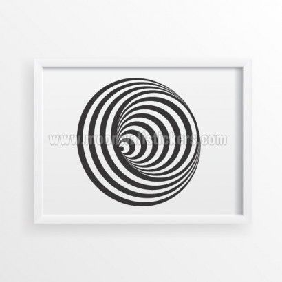 Spiral Illusion Ball Poster - Moon Wall Stickers