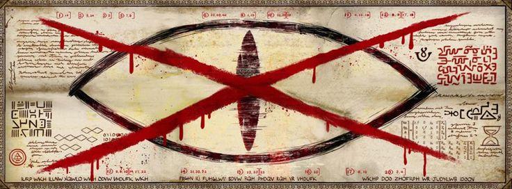"""Criptogramas - Gravity Falls Brasil 1-Os códigos em vermelho, em ordem, formam """"EU ESTAVA TÃO CEGO. ELE MENTIU PRA MIM. A ESCURIDÃO ESTÁ PRÓXIMA."""" 2- Os criptogramas, em ordem, formam """"DO PRIMEIRO ATÉ O ÚLTIMO, PROCURE PELOS CÓDIGOS DOS CRÉDITOS, PASSOU UM, SIGNIFICOU UM, ENTÃO PROCURE E TODOS SEJAM BEM VINDOS A GRAVITY FALLS."""""""