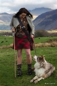 Alison O'Neill aka the barefoot Shepherdess.  Magnificent dress code and her overall lifestyle.  www.rxx.co.uk