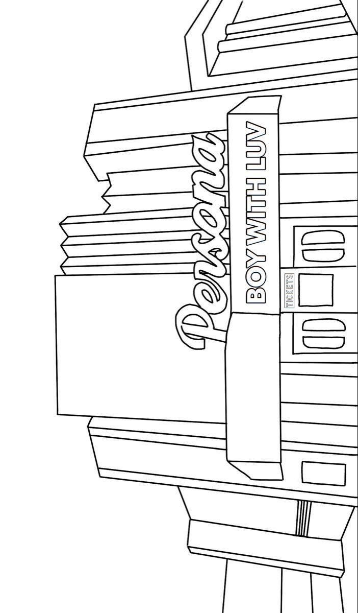 Pin By Maja Wrobel On Bujo In 2020 Bts Drawings Line Art Drawings Outline Art