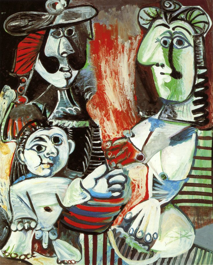 Pablo Picasso The Family 1970. Oil on canvas. 162 x 130 cm. Musée national Picasso, Paris. MP222.