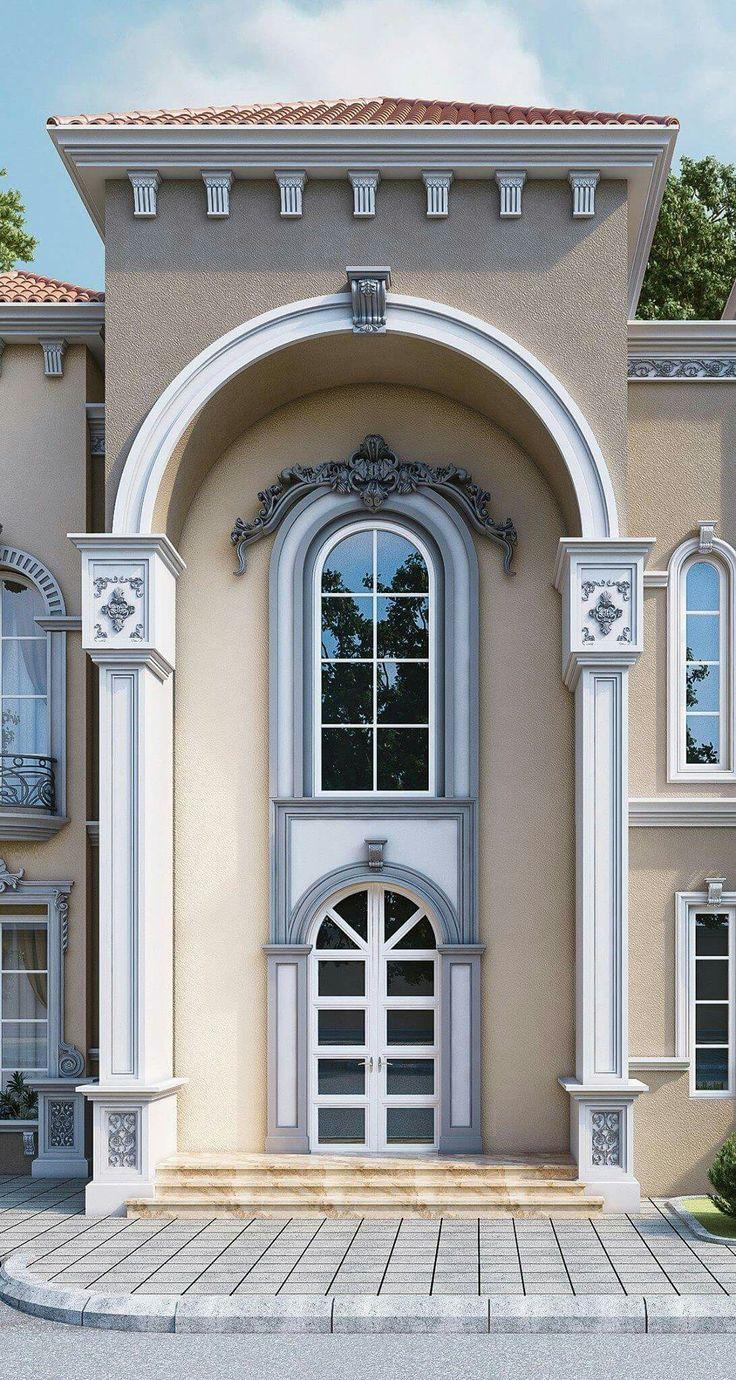 Professional luxury villa exterior designs in qatar - Villa Mediterranean Homes Autocad Balcony Exterior House Design Paint Colors Gates Farmhouse