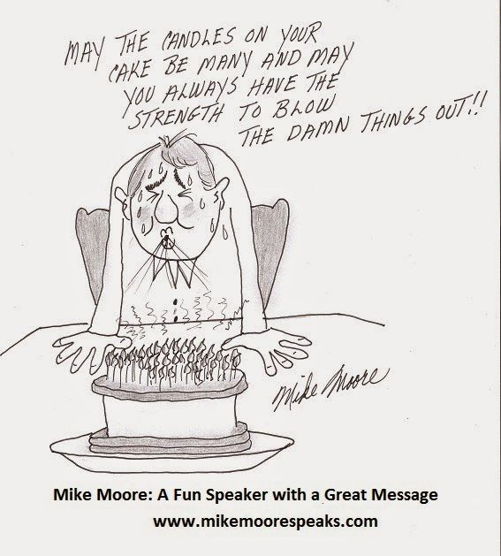 Mike Moore's Love and Laughter Lounge : A Birthday Cartoon
