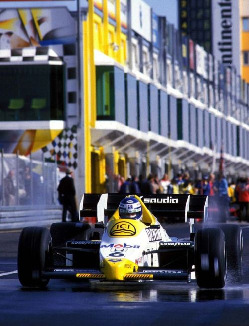 "Keijo Erik ""Keke"" Rosberg (FIN) (Williams Grand Prix Engineering), Williams FW09/FW09B - Honda V6 (t/c)  Rosberg finished the 1984 season 8th, with a total of 20.5 points.  1984  © Williams F1"