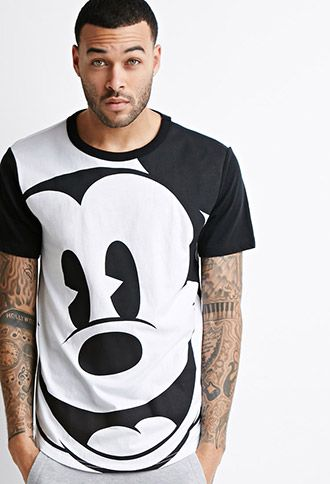 Longline Mickey Mouse Tee | Forever 21 - 2052288223