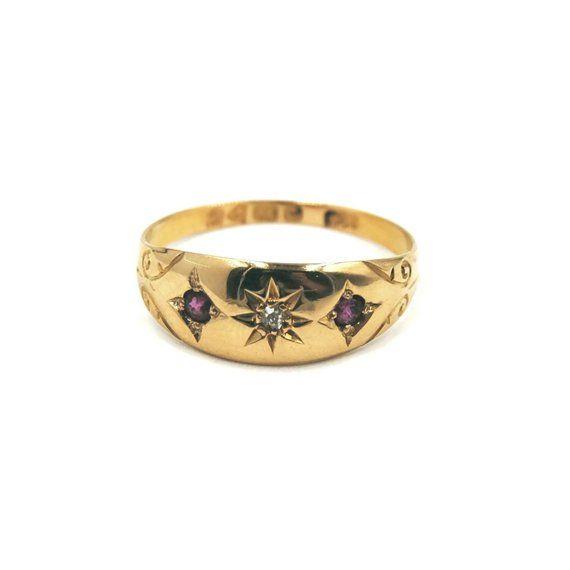 Pin On Antique Gypsy Rings Edwardian Era