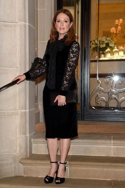 Julianne Moore attends the Ralph Lauren fashion show during New York Fashion Week: The Shows at Skylight Clarkson Sq on September 14, 2016 in New York City.