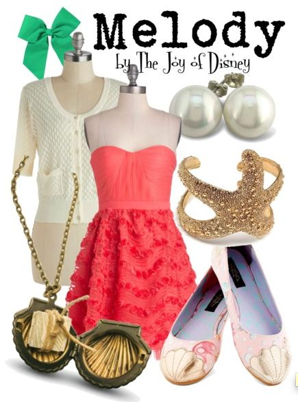 Outfit inspired by Melody, Ariel's daughter in Little Mermaid 2!