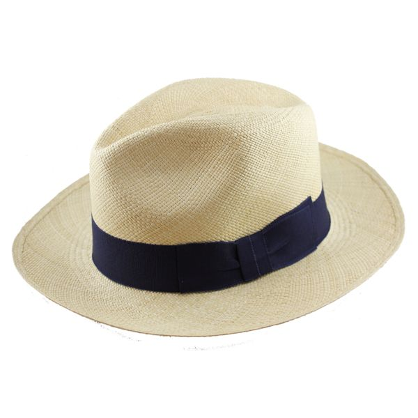 Panama hat blue