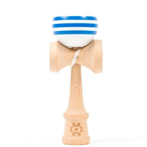 USA Kendama Tribute - Wooden Skill Toy-White with Blue Stripes by Kendama USA. $22.99