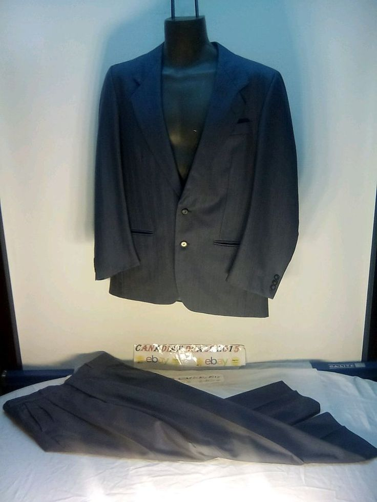 GIVENCHY MENS SUIT GRAY STRIP 100% WOOL SPORT COAT BLAZER JACKET WITH PANTs 800$ #GIVENCHY #TwoButton