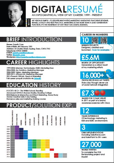 14 best Visual Resume - Using Infographics & Pinterest images on ...