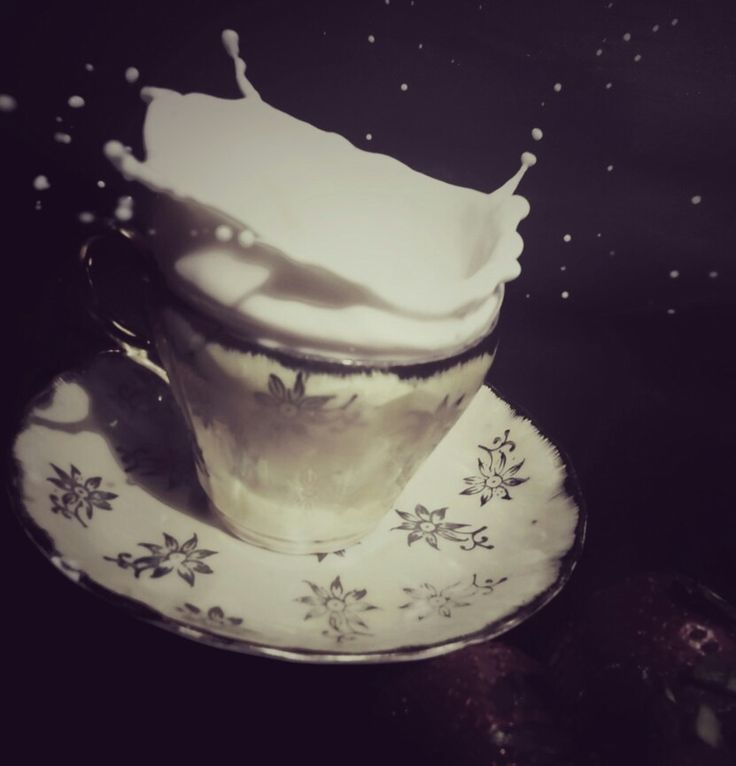 Phonegraphy Falling a cup off milk Taken by WahyuSriHastomo