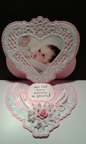 Voorbeeldkaart - Baby kaart - Categorie: Scrapkaarten - Hobbyjournaal uw hobby website